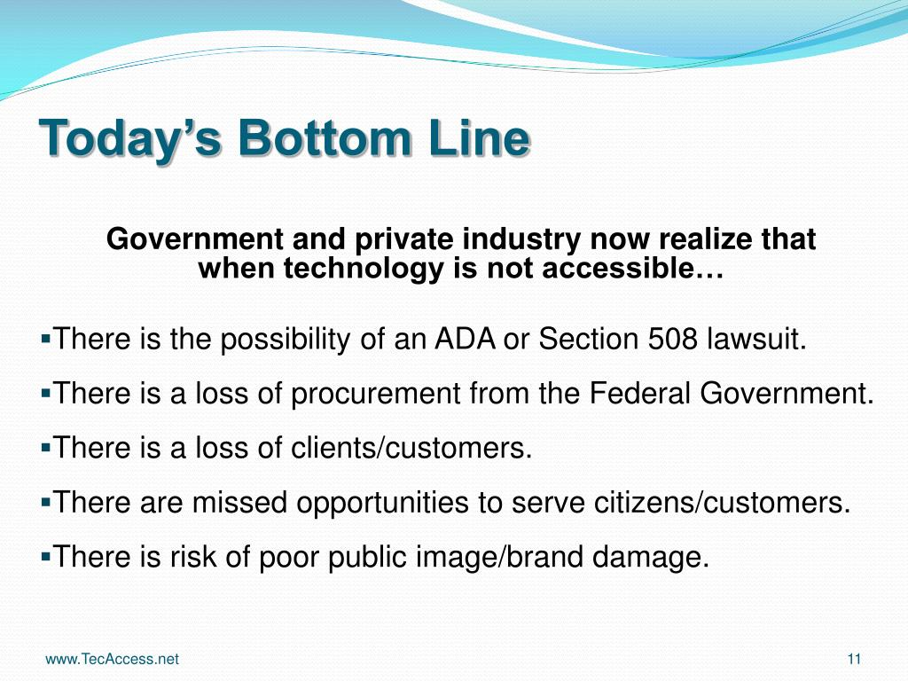 Today's Bottom Line