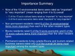 importance summary