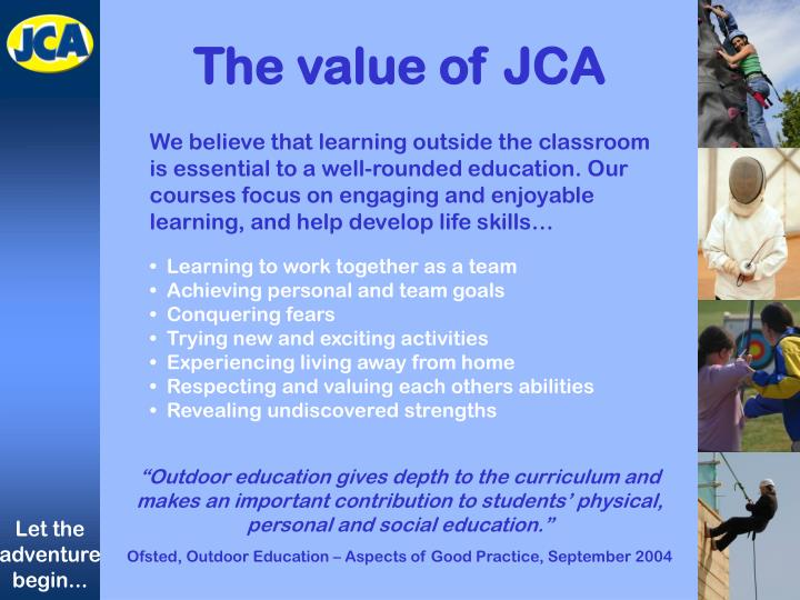 The value of JCA