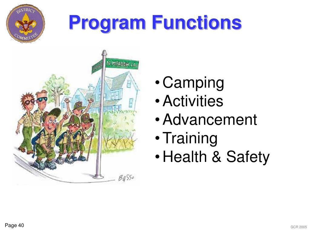 Program Functions