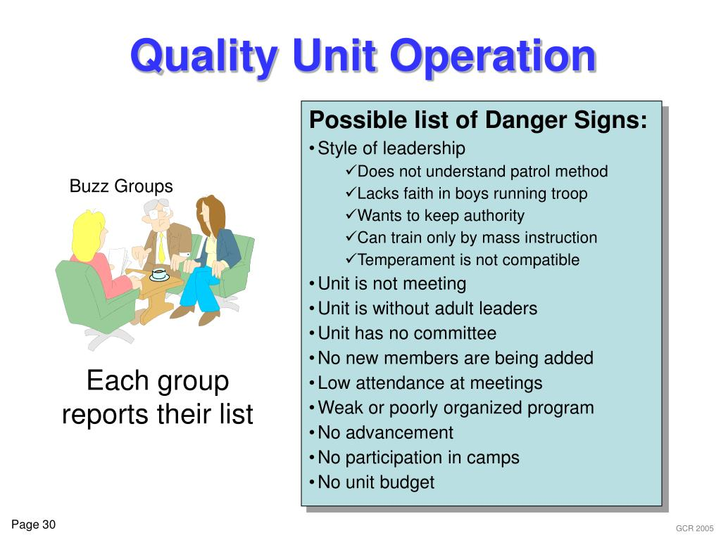 Quality Unit Operation