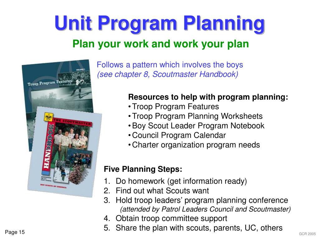 Unit Program Planning