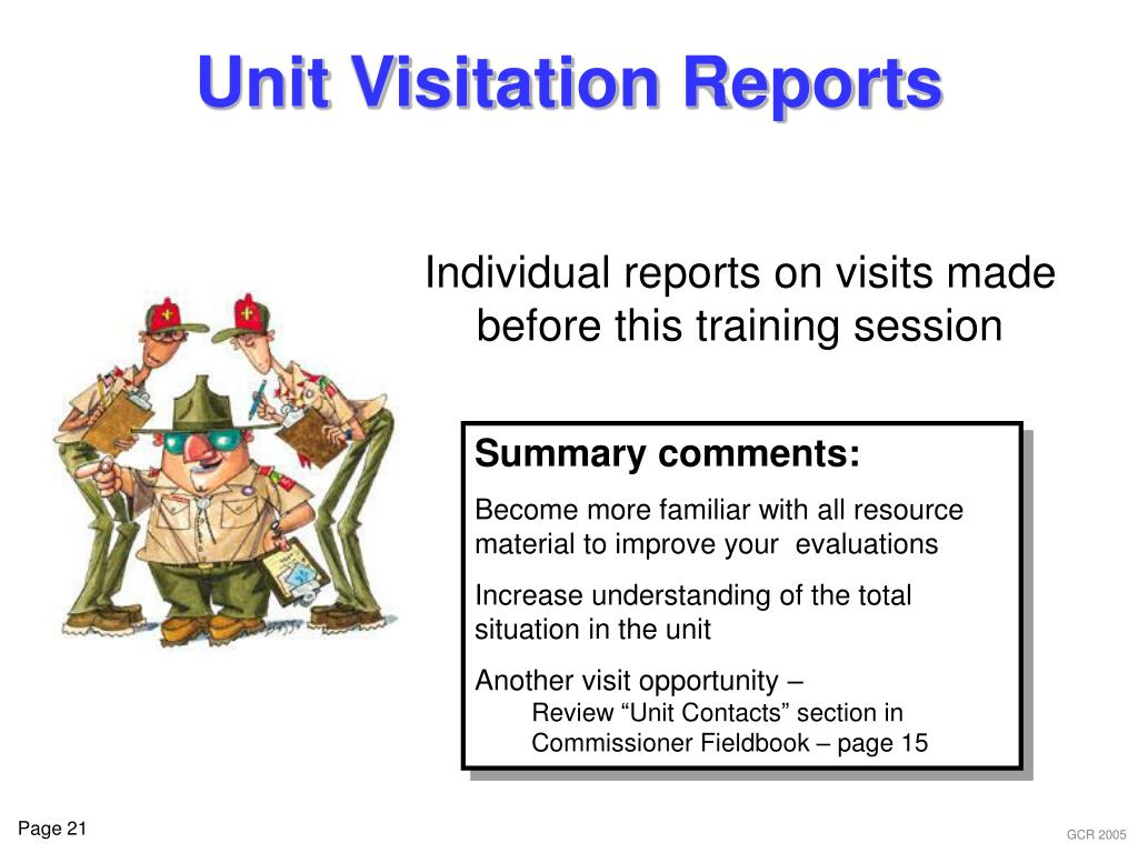 Unit Visitation Reports