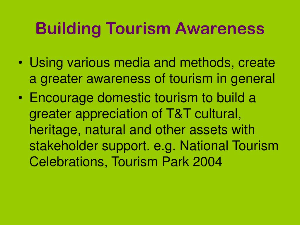 Building Tourism Awareness