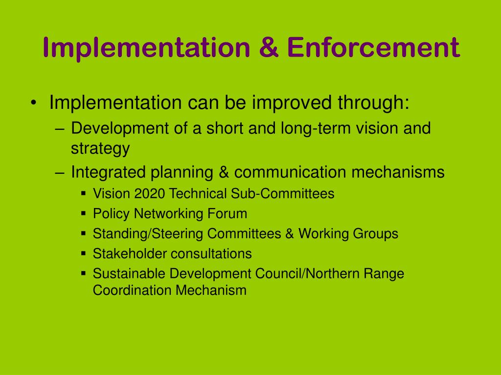 Implementation & Enforcement