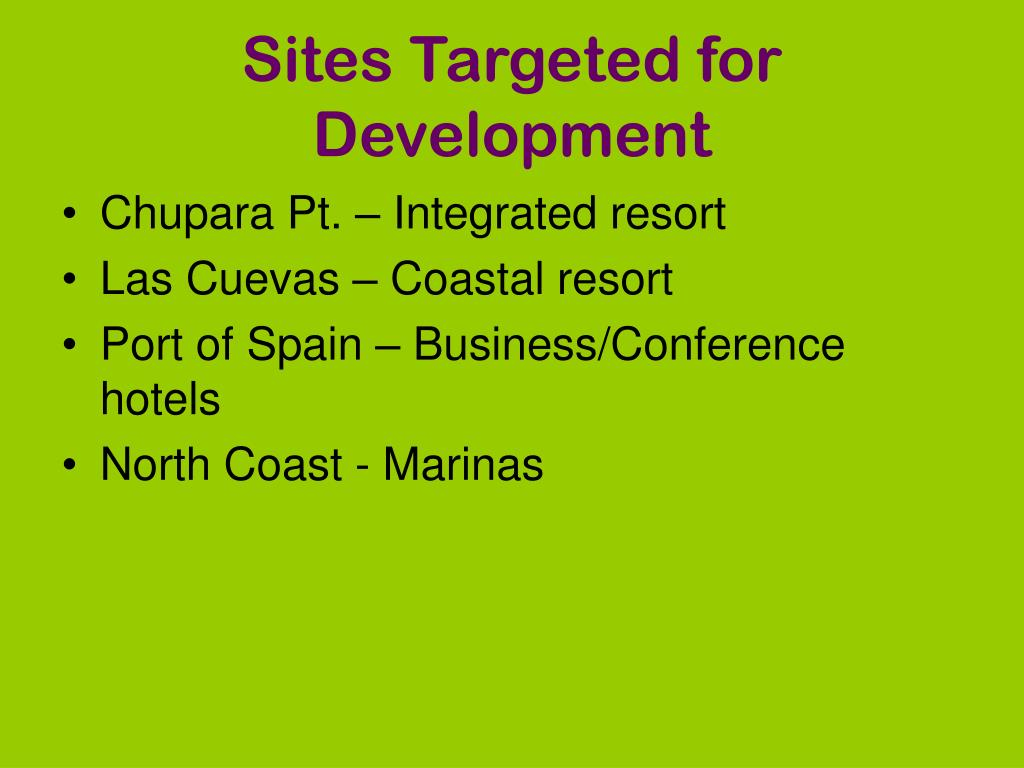 Sites Targeted for Development
