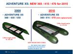 adventure xs new 365 415 470 for 2010