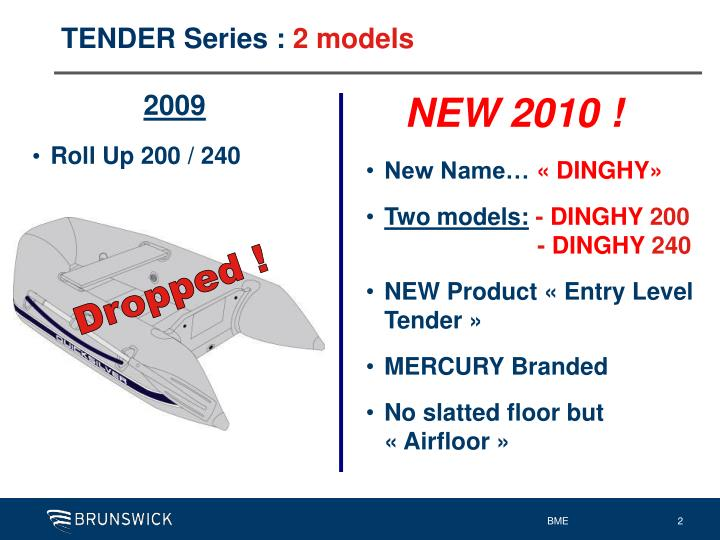 Tender series 2 models
