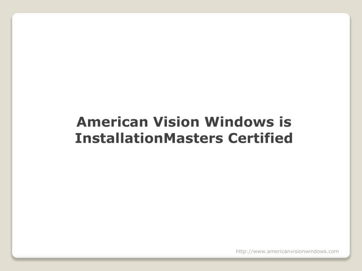American Vision Windows is