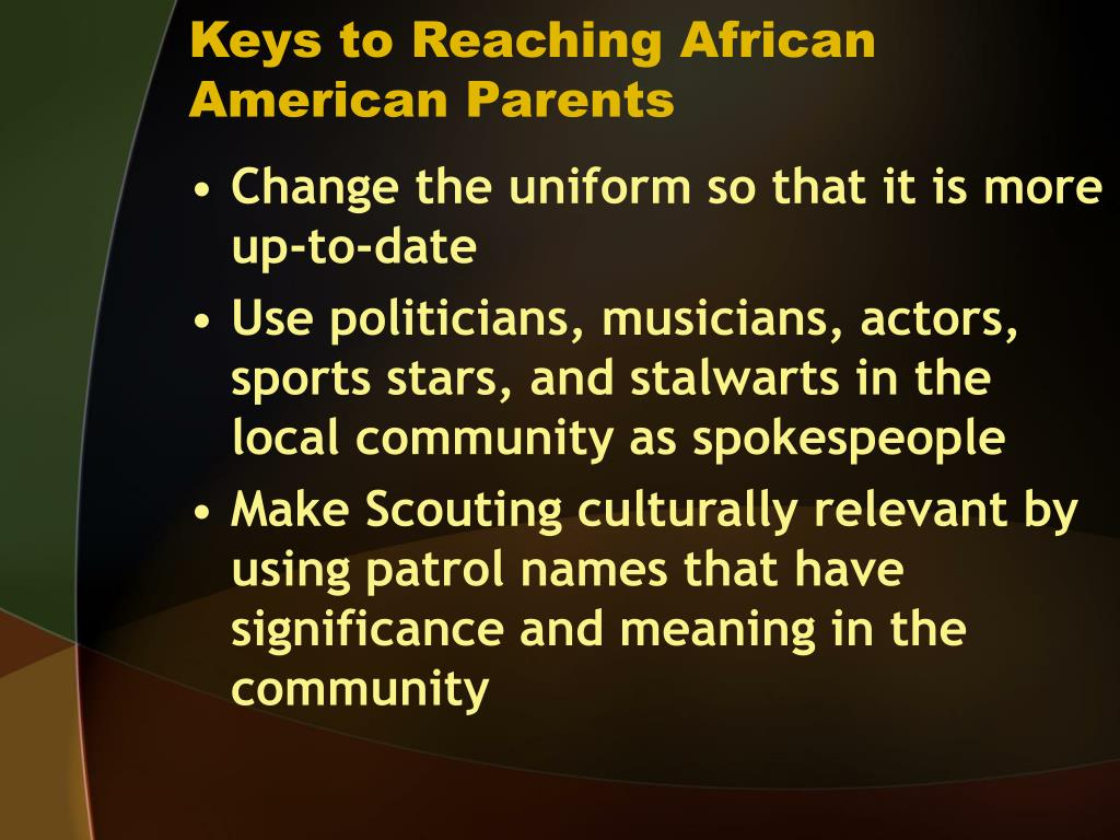 Keys to Reaching African American Parents