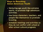 keys to reaching asian american youth
