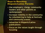keys to reaching hispanic latino parents