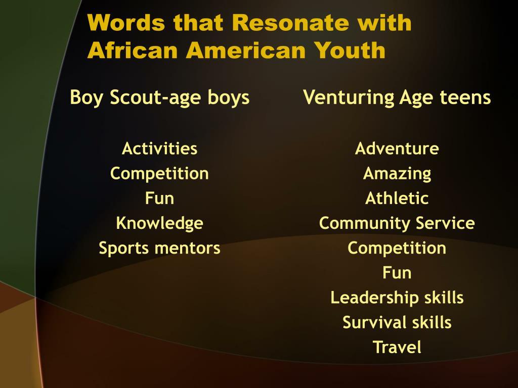 Boy Scout-age boys