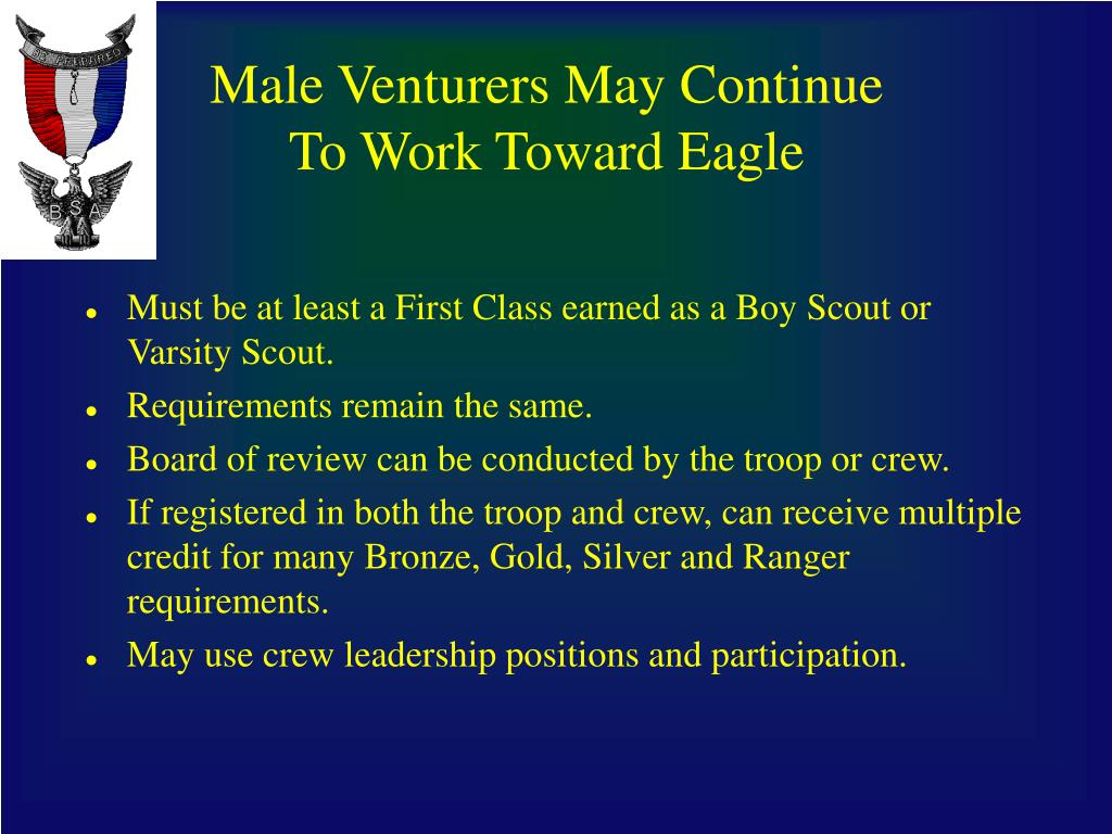 Male Venturers May Continue