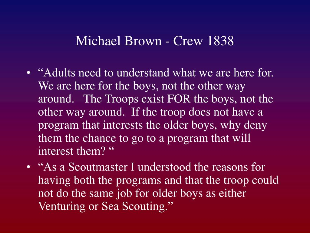 Michael Brown - Crew 1838