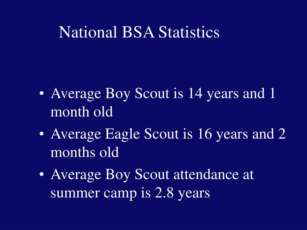National BSA Statistics