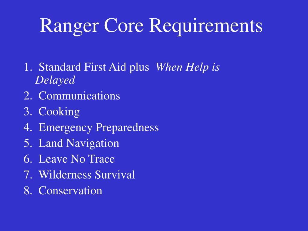 Ranger Core Requirements