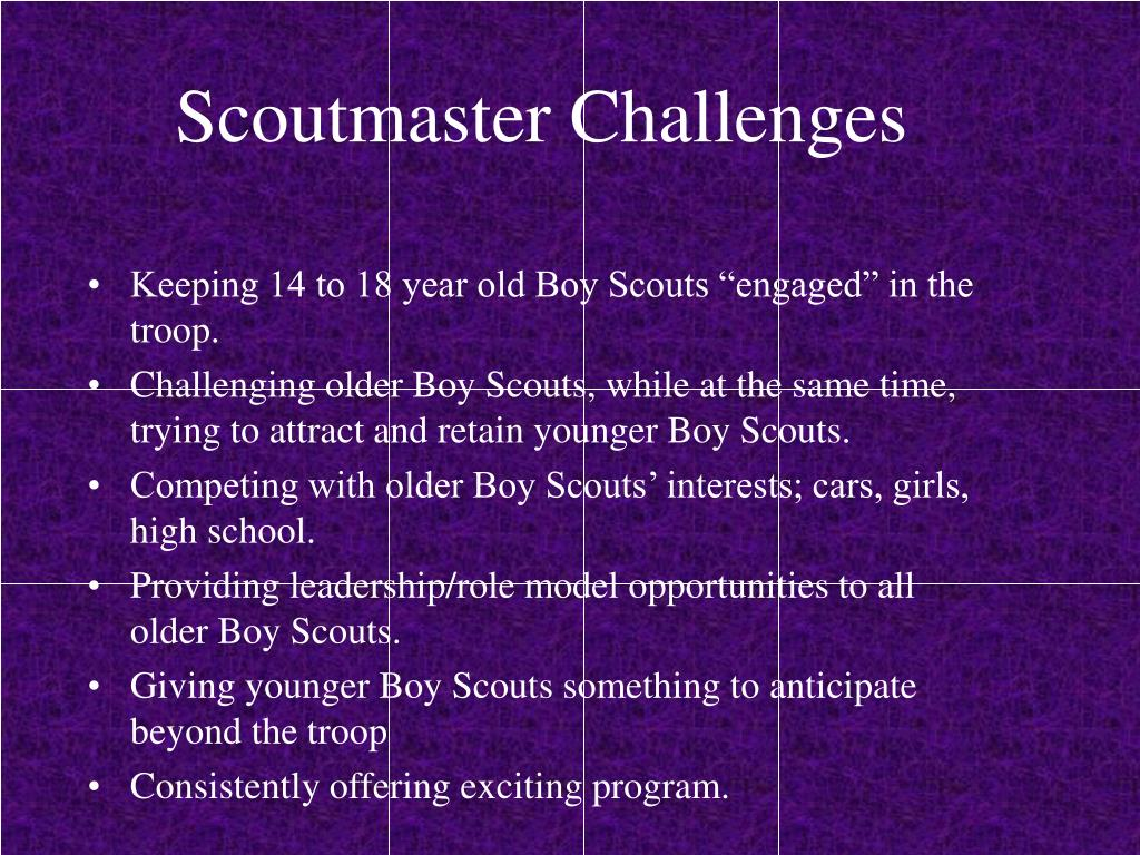 Scoutmaster Challenges