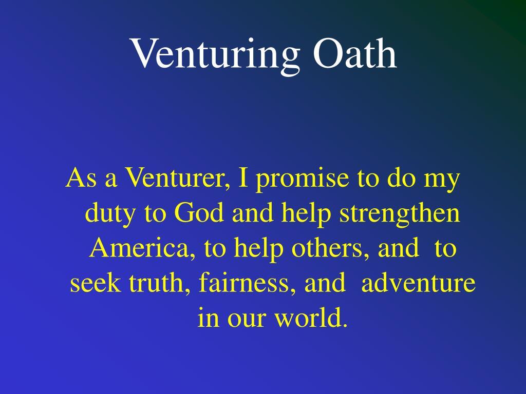 Venturing Oath