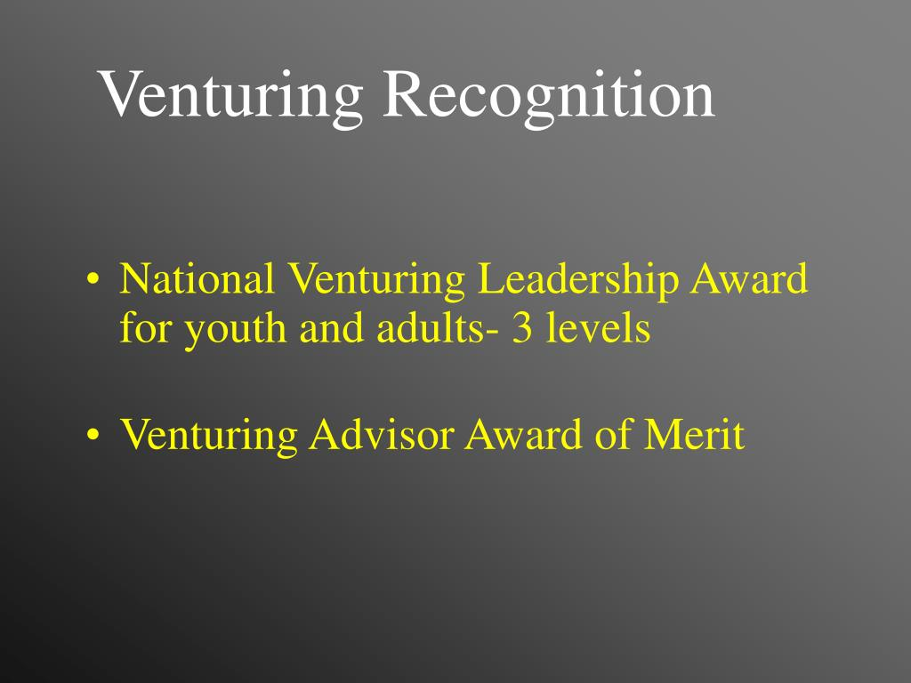 Venturing Recognition