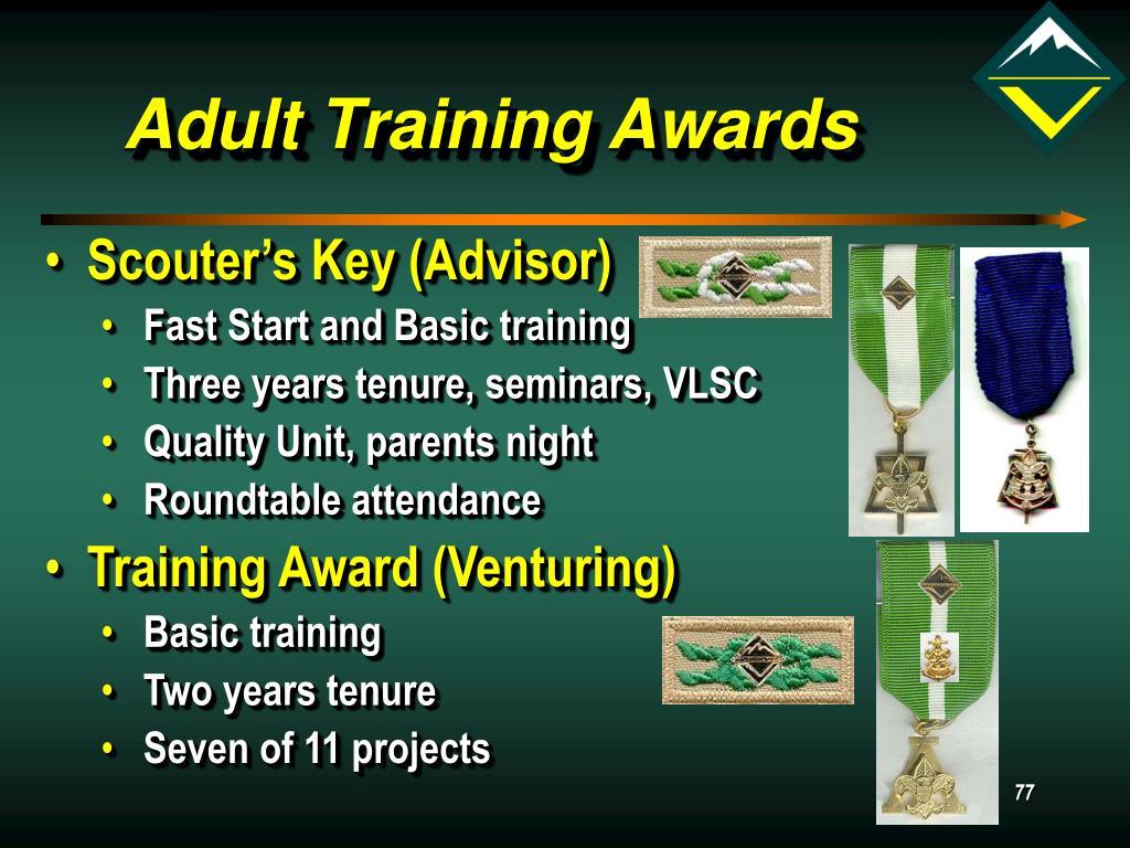 Adult Training Awards