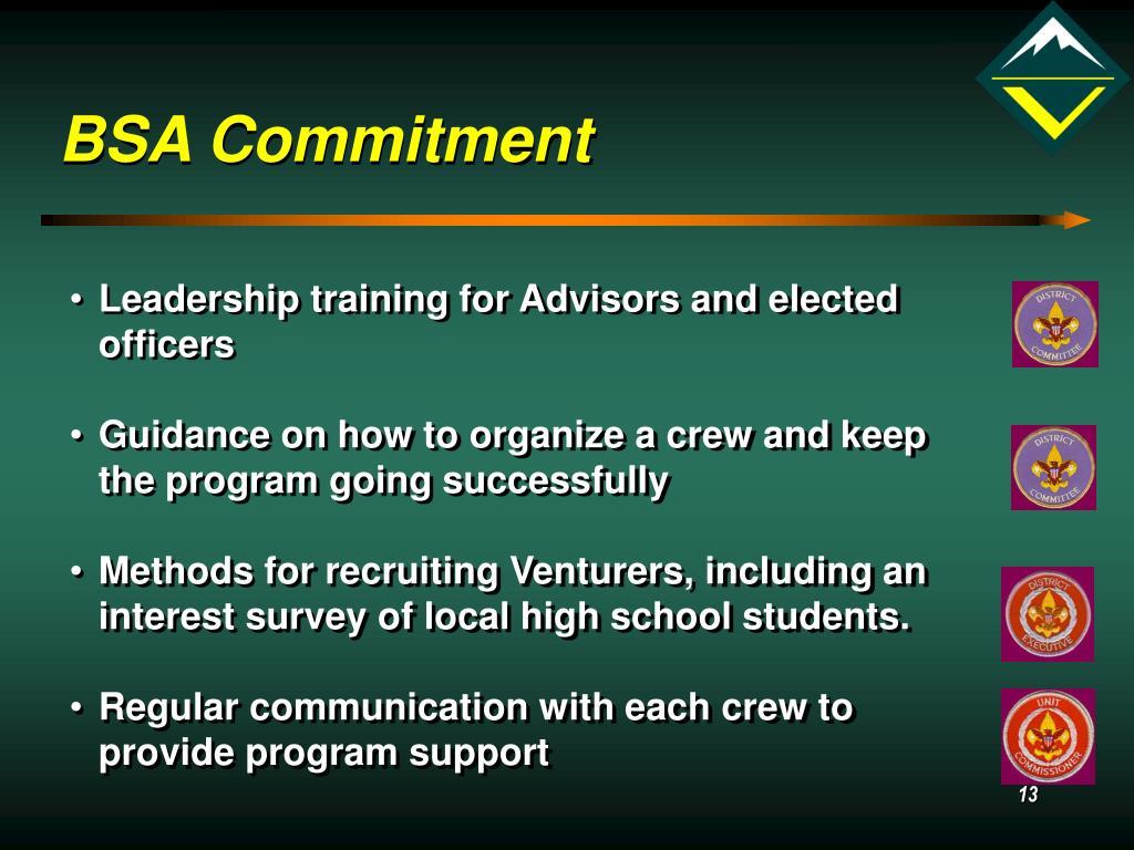 BSA Commitment