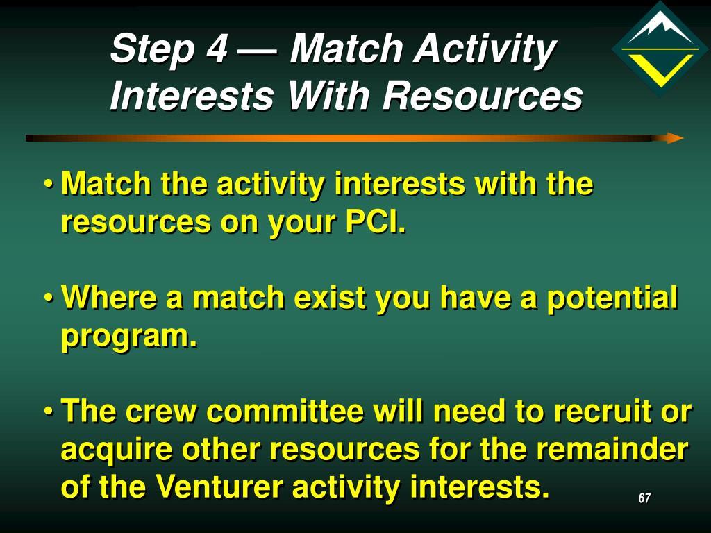 Step 4 — Match Activity