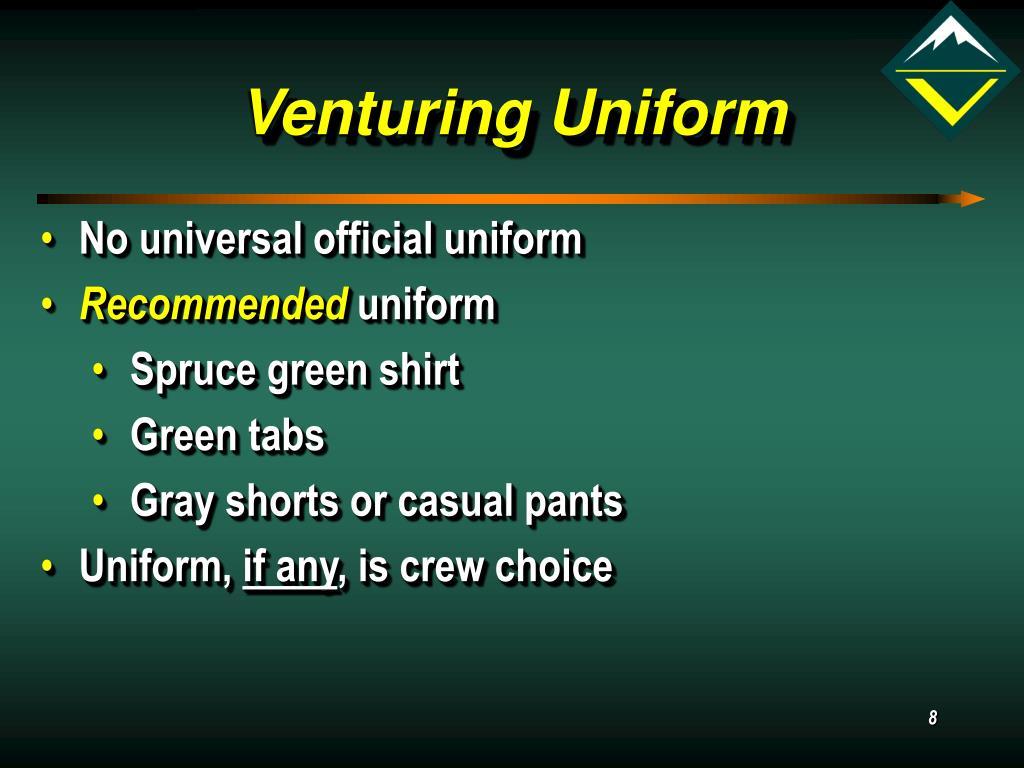 Venturing Uniform