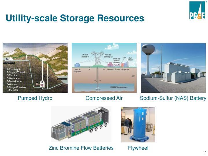 Utility-scale Storage Resources