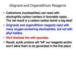 grignard and organolithium reagents3