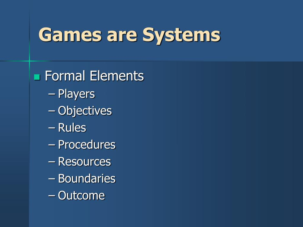Games are Systems
