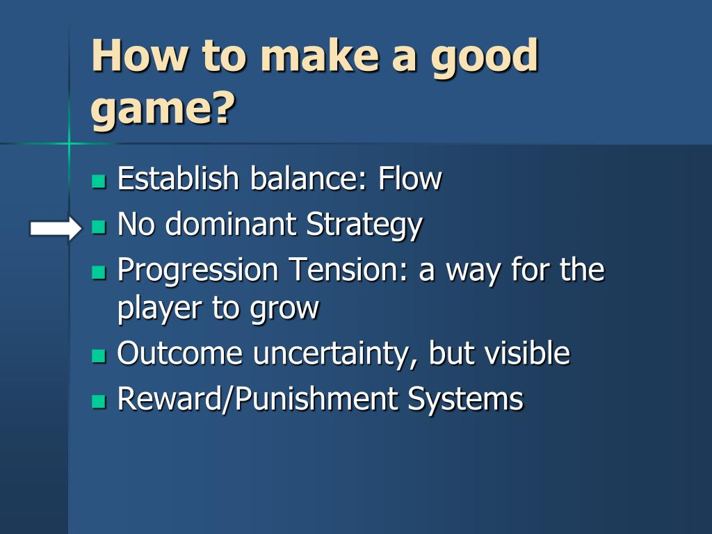How to make a good game?
