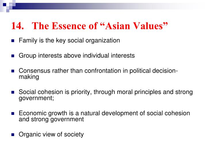 "14.	The Essence of ""Asian Values"""