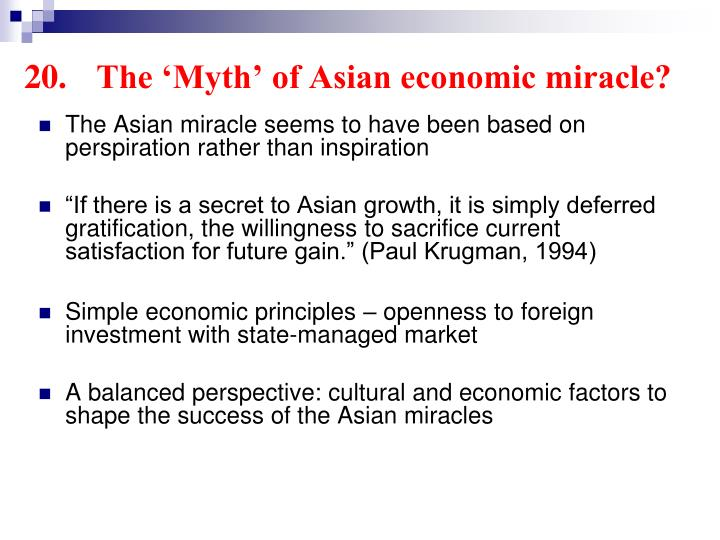 20.	The 'Myth' of Asian economic miracle?
