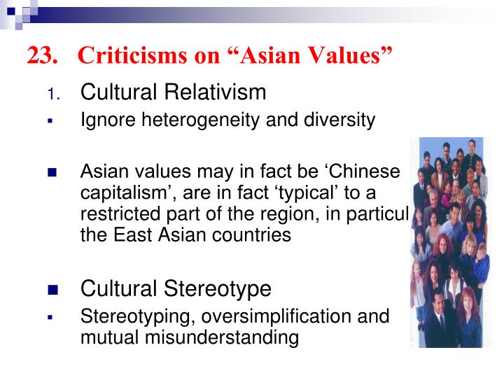 "23.	Criticisms on ""Asian Values"""