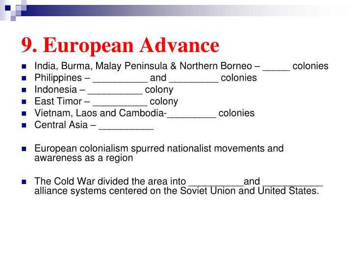 9. European Advance
