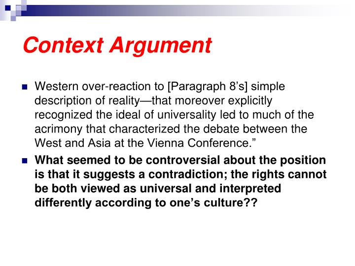 Context Argument