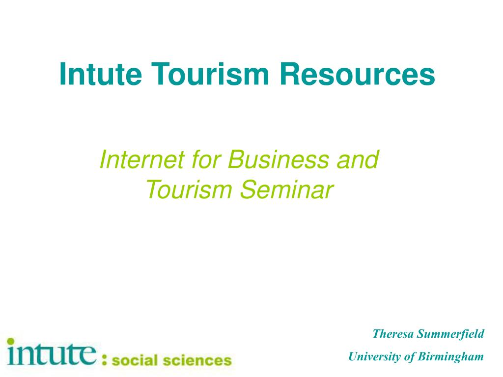 Intute Tourism Resources