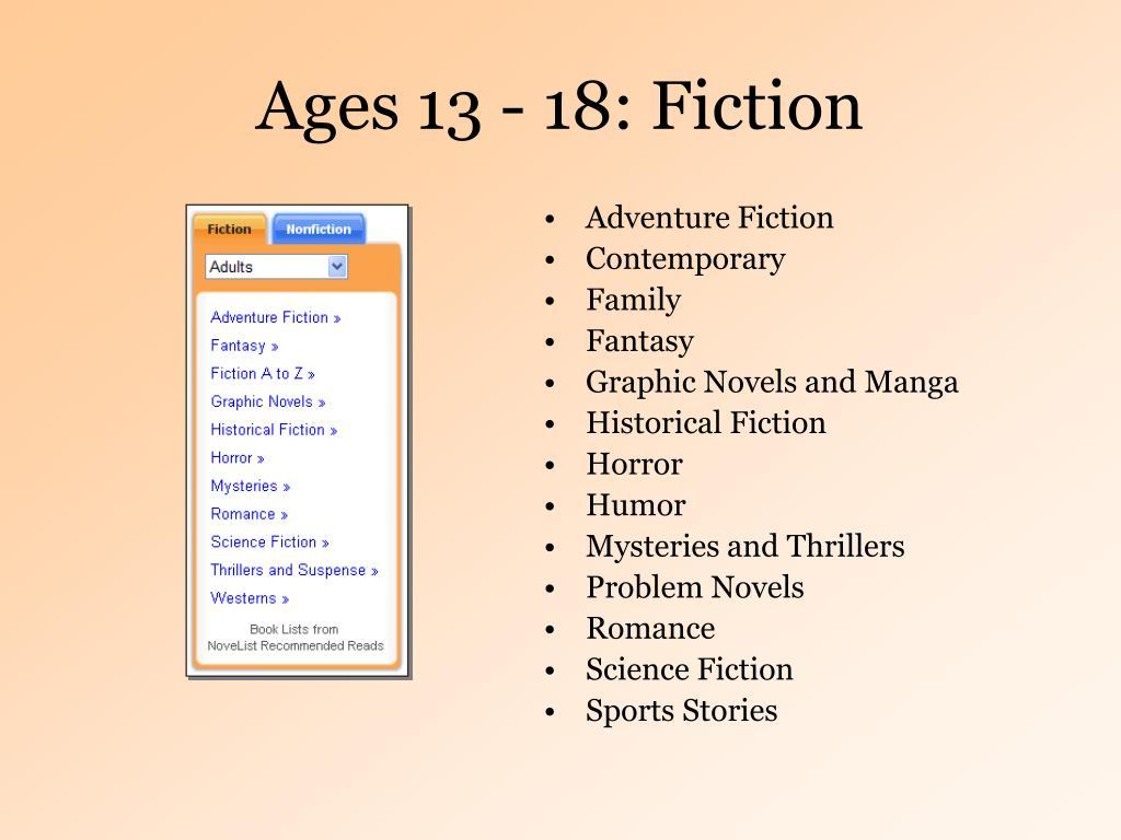 Ages 13 - 18: Fiction