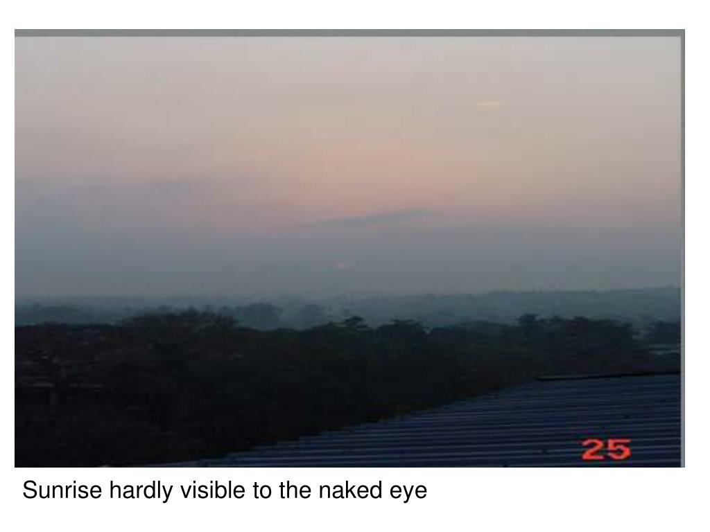 Sunrise hardly visible to the naked eye