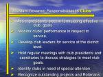 assistant governor responsibilities to clubs