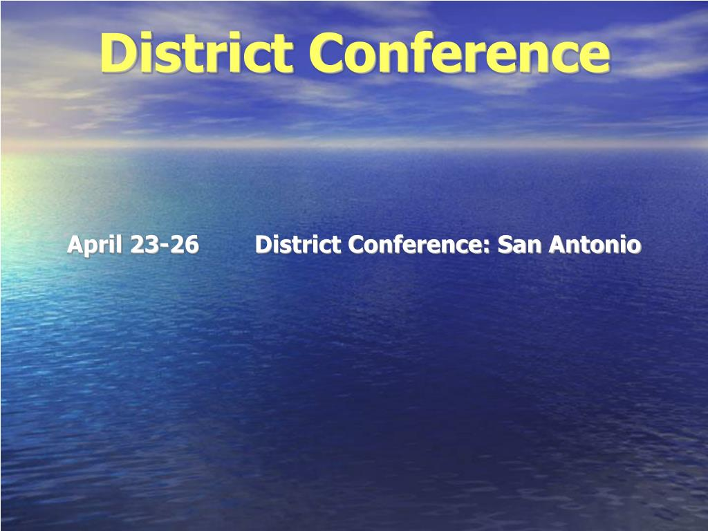 District Conference