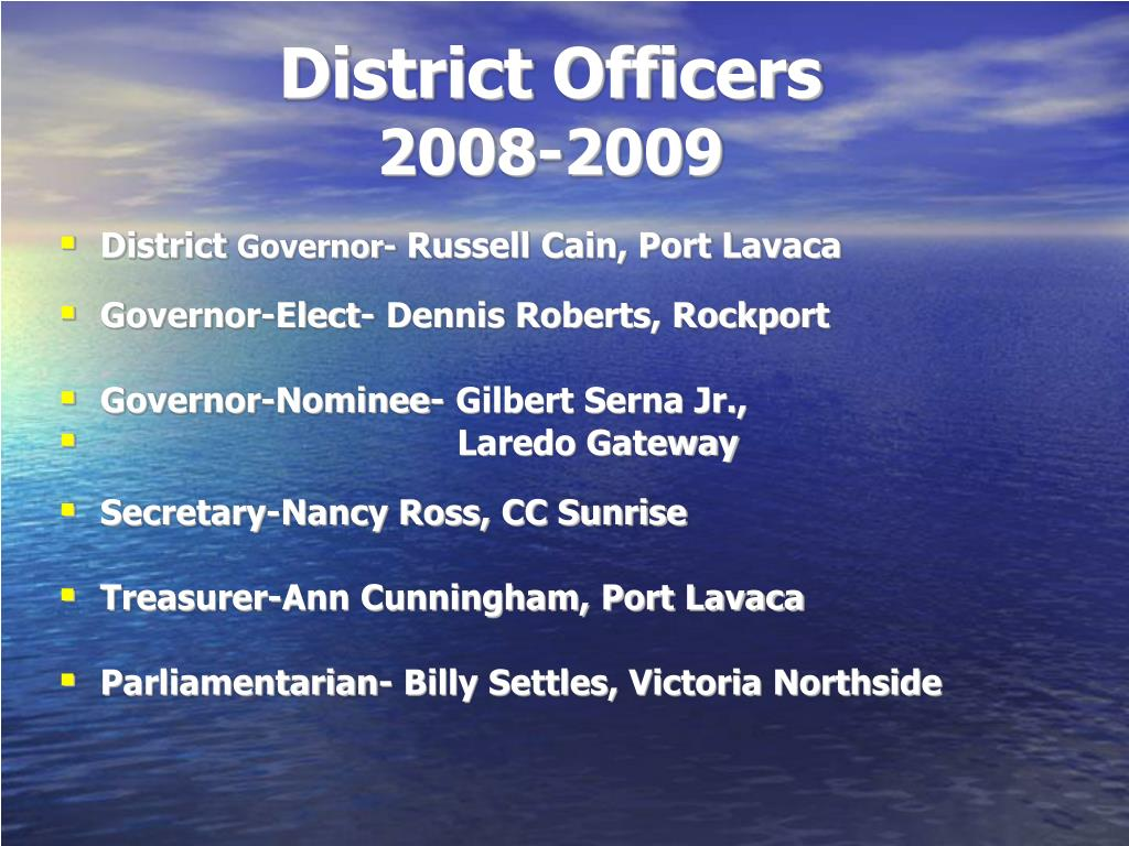 District Officers