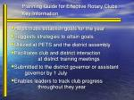 planning guide for effective rotary clubs key information