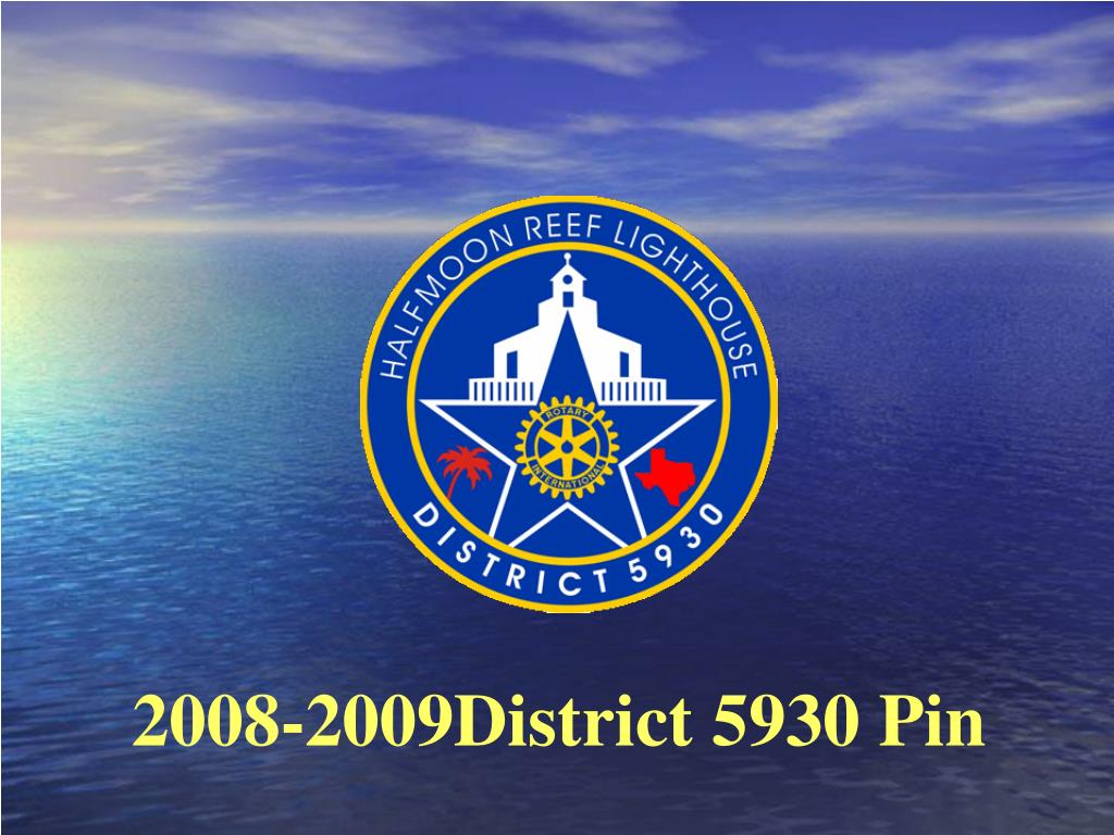 2008-2009District 5930 Pin