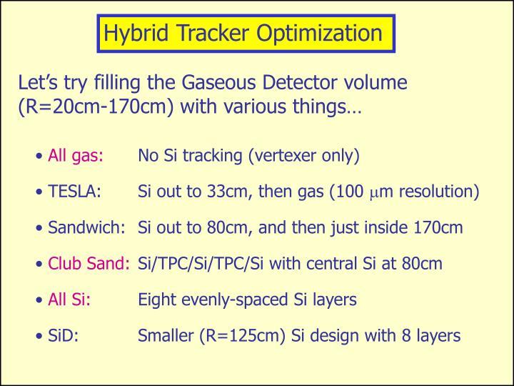 Hybrid Tracker Optimization