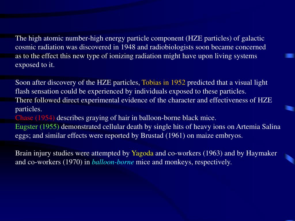 The high atomic number-high energy particle component (HZE particles) of galactic
