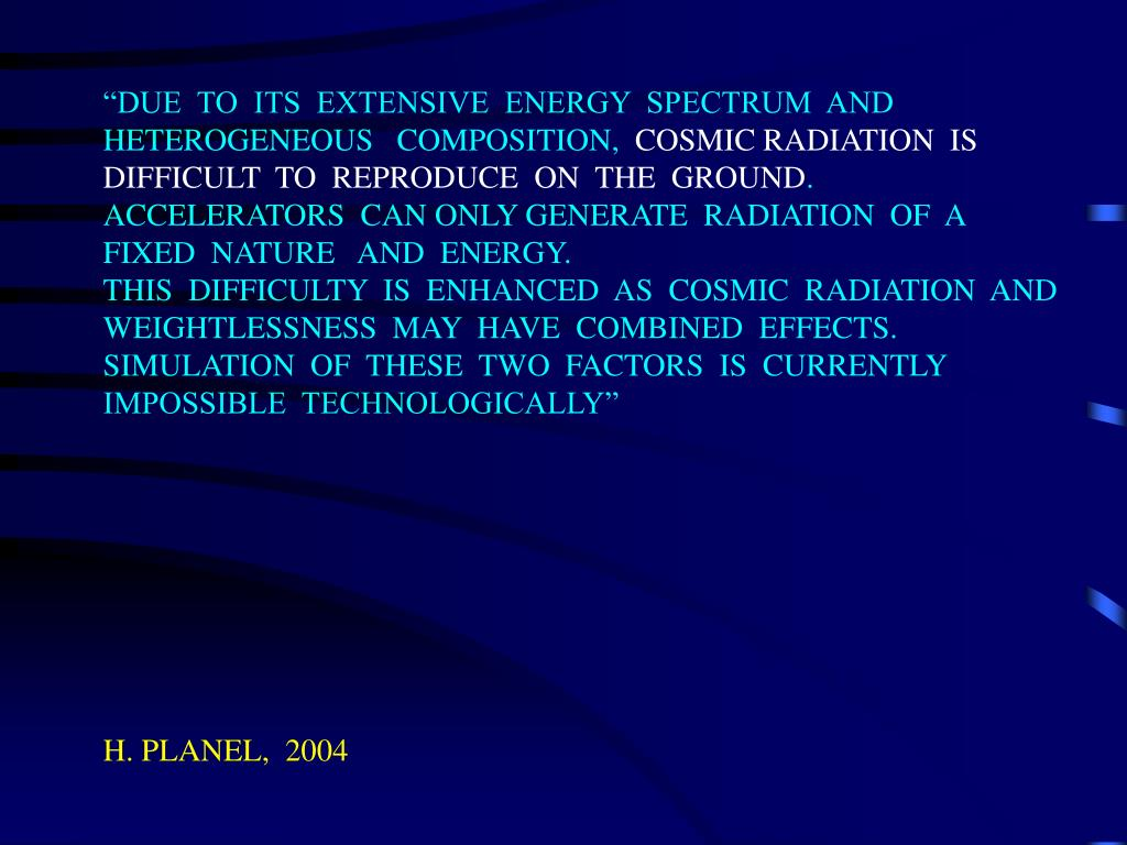 """DUE  TO  ITS  EXTENSIVE  ENERGY  SPECTRUM  AND"