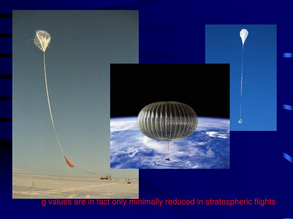 g values are in fact only minimally reduced in stratospheric flights