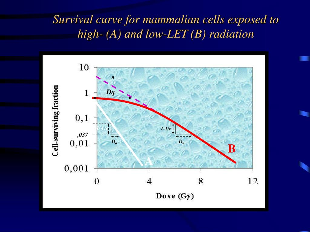 Survival curve for mammalian cells exposed to